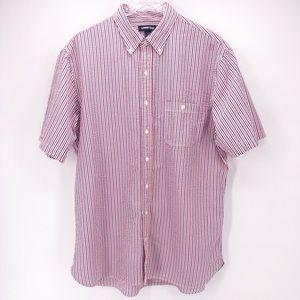 Land's End Seersucker Striped Button Down Shirt